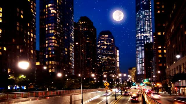 New York in night video