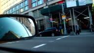 new york inside taxi car mirror video