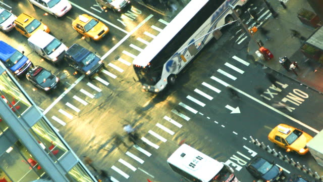 New York Intersection Time Lapse video