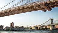 New York manhattan bridge video
