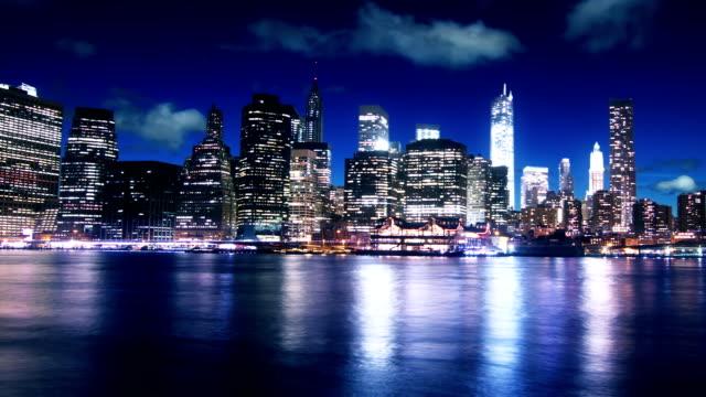 New York Manhattan night time lapse video