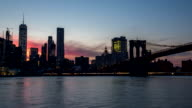 New York Manhattan panorama - Time lapse video