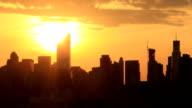 New York Manhattan Sunset video