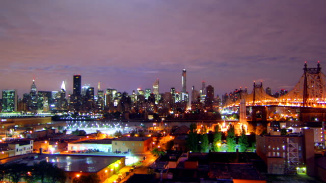 New York night time lapse video