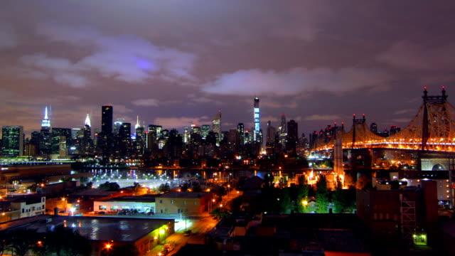 New York night time lapse video