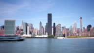 new york panorama day view 4k time lapse from new york video