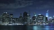 New York riverside at night, USA video