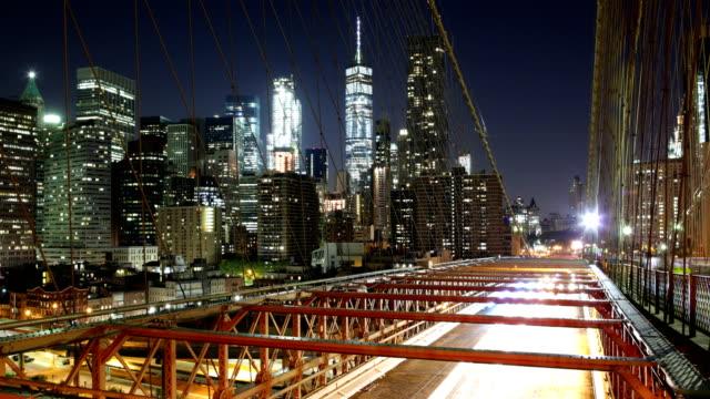 New York Skyline: Brooklyn bridge video