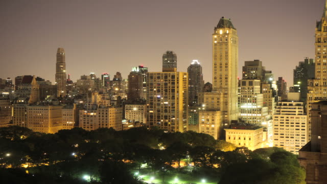 New York Skyscrapers and Central Park - Timelapse video