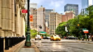 New York street. Rain video