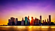 New York sunset. video