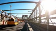 New York Taxi Crossing the Brooklyn Bridge video