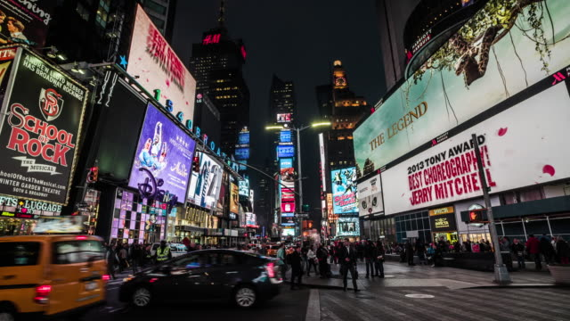 New York Times Square at Night video