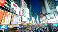 New York Times Square Time Lapse Panorama video
