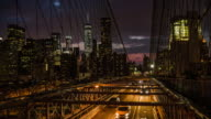 New York, traffic on Brooklyn Bridge video