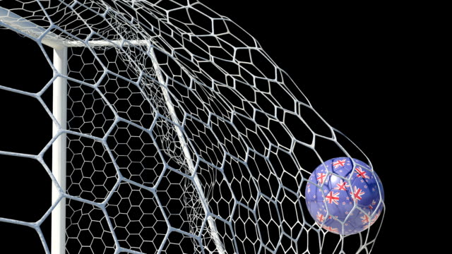 New Zealand Ball Scores in Slow Motion with Alpha Channel video