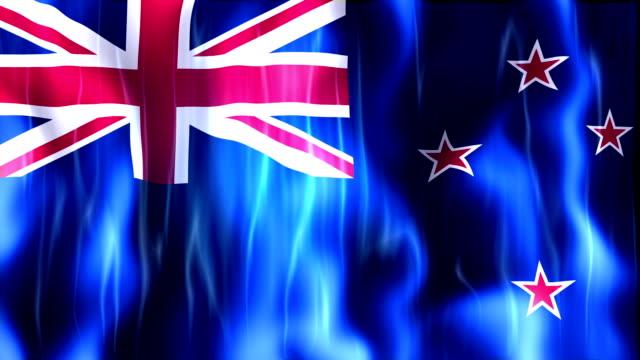 New Zealand Flag Animation video