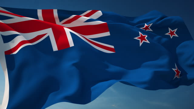 4K New Zealand Flag - Loopable video