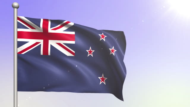 New Zealand Flag (Loopable) video