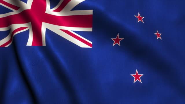 New Zealand Flag Video Loop - 4K video