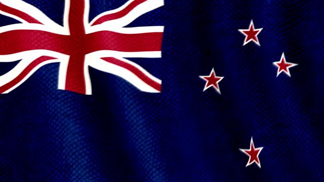 New Zealand flag waving animation video