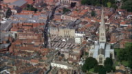 Newark On Trent  - Aerial View - England, Nottinghamshire, Newark and Sherwood District, United Kingdom video