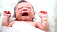 Newborn asian baby cry video