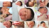 Newborn baby montage video
