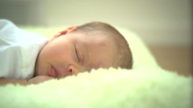 Newborn baby sleeping video