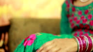 Newly Wed Indian Couple Holding Hands video