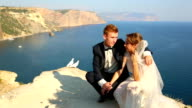 Newlyweds and great white doves video