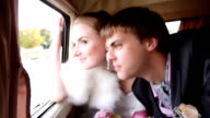 Newlyweds In Car video