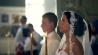 Newlyweds in the Orthodox Church video