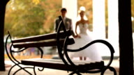 Newlyweds sat down to rest video