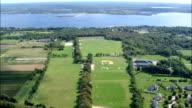 Newport Polo Club  - Aerial View - Rhode Island, Newport County, United States video