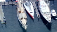 Newport Yacht Harbour  - Aerial View - Rhode Island, Newport County, United States video