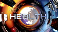News broadcast titles. Health, tech, science. Yellow. video