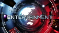 News broadcast tittles. Blue and Red. Entertaiment, Sport, Economy. video