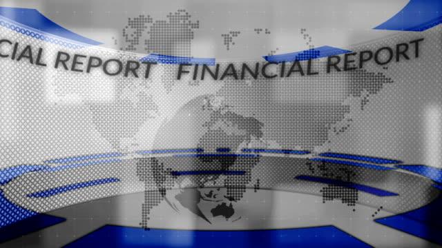 News. Financial report. video