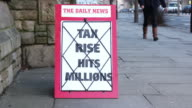 News Headline Board - Tax Rise Hit's Millions video