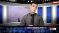 News presenter in studio-live video