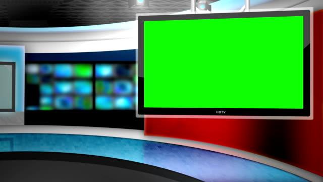 news studio background video
