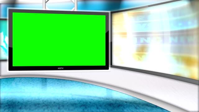 news studio green screen video