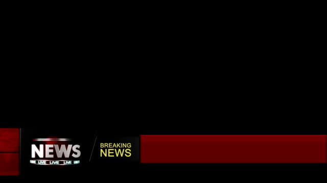 News ticker lower third overlay (loop-able) with alpha video