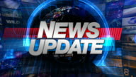 News Update - Broadcast Graphics Title video