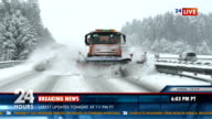 Newscast Reporting About Snow Storm video