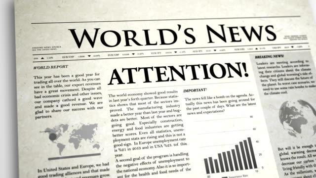 Newspaper Headline: Attention video