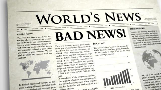 Newspaper Headline: Bad News video