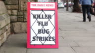 Newspaper Headline Baord - Killer 'Flu bug strikes video