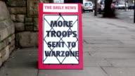 Newspaper Headline Board - More troops sent to Warzone video